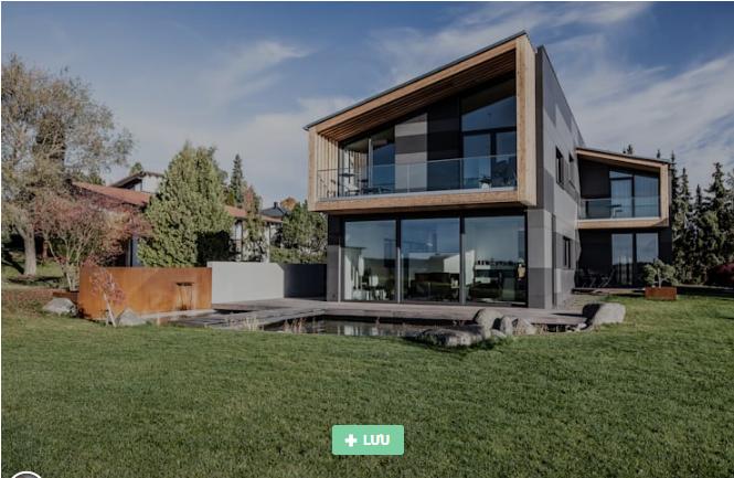 thiết kế nhà với bề mặt kính