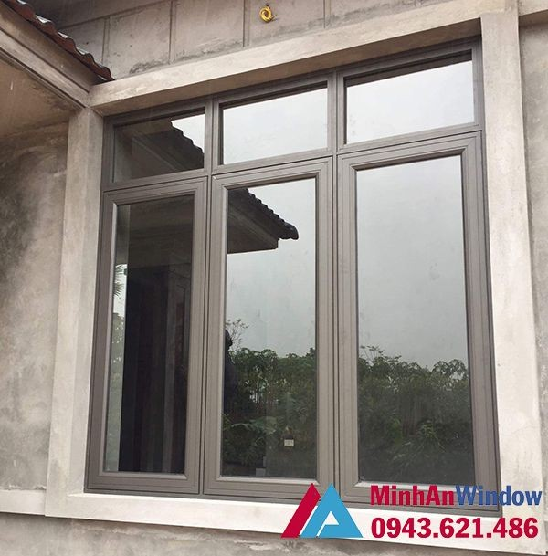 cửa sổ nhôm kính 3 cánh