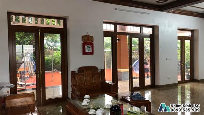 Cửa Nhôm Xingfa Cao Cấp Cho Các Phòng Khách Lớn - Nhôm Kính JSC Đã Thi Công
