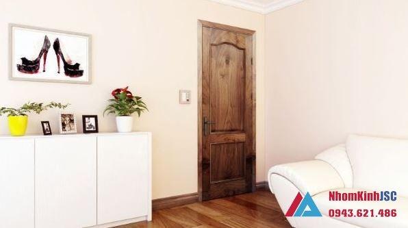 cửa nhôm giả gỗ